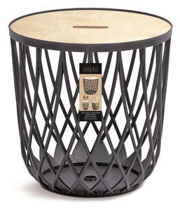 Couchtisch Beistelltisch Kunststoff Tisch Holzplatte Korbtisch Sofatisch Uniqubo 35L