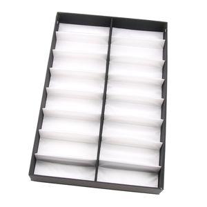 16 Slots Brillen Aufbewahrungsbox Brillen Sonnenbrille Brillenbox Brillen Organizer Schutz Vitrine Halter