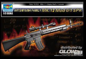 Trumpeter AR15/M16/M4 FAMILY-MK.12 Mod o/1 SPR 1:3, 01918