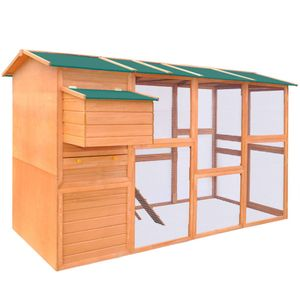 Möbel® Hühnerstall Holz   Kaninchenhaus Kaninchenstall Hühnerstall Stall für Meerschweinchen Hasen   Kleintierstall Rattenkäfig 295x163x170 cm   🐳3934