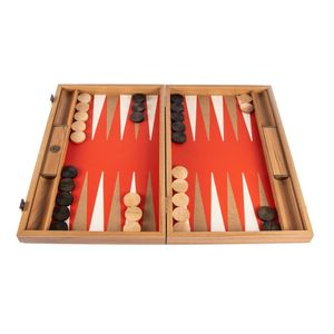 Leatherette Cinnabar Red Backgammon Spiel - 48x30cm - mit Elfenbein & Taba  Spitzenqualität