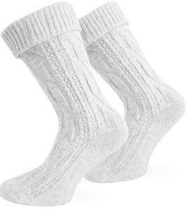 Trachten-Socken - Weiß - 39-42
