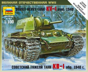 Svezda 1:100 WWII Wargame AOn Soviet heavy Tank Panzer KV-1
