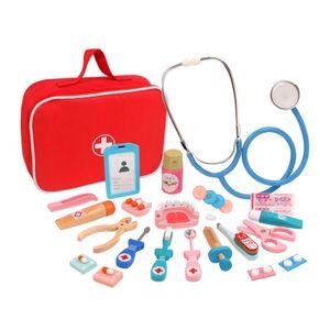 Arztkoffer für Kinder Puppendoktor Doktorkoffer,Doktorkoffer rot/grau Instrumente