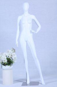 Schaufensterpuppe S+27 Frau weiß matt lackiert hochwertig Egghead mit Metallplatte Frau Weiblich