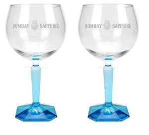 Bombay Sapphire Ballon Cocktail Gin Glas Gläser Set - 2x Gläser Ginglas Gin Tonic
