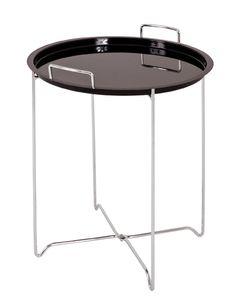 Haku Beistelltisch, chrom-schwarz - Maße: 51 cm - Ø 45 cm; 33580