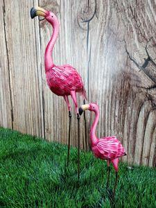 Metall-Figur Flamingo 2 Stück - L und XL