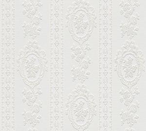 A.S. Création Strukturprofiltapete Belle Epoque Tapete weiß 10,05 m x 0,53 m 186140 1861-40