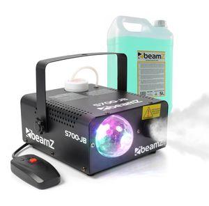 beamZ S700 JB Nebelmaschine , Jelly Ball , 700 Watt , Ausstoßvolumen: 75 m³ pro Minute , Tankvolumen: 0,5 Liter , Aufheizzeit: 5 Minuten , inkl. 5 Litern Nebelfluid , LED: 3 x RGB , Kabelfernbedienung , schwarz