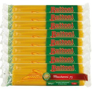 Buitoni Maccheroni 75 Selezionata di Grano Duro Pasta 500g 8er Pack