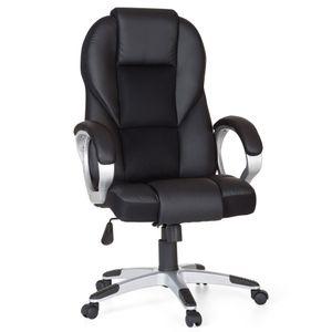 Amstyle Bürostuhl Schwarz Gaming Chefsessel Drehstuhl 120kg Synchronmechanik Schreibtischstuhl