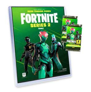 Panini Fortnite Karten Hobby Serie 2 (2020/2021) - Fortnite Trading Cards Sammelkarten - 1 Sammelmappe + 2 Booster
