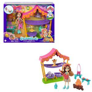 Enchantimals Savannen-Pyjamaparty Spielset mit Griselda Giraffe Puppe