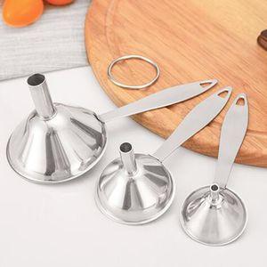3 Teile / Satz Edelstahl Flaschentrichter Küche Trichter Einfülltrichter