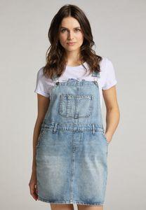 MUSTANG Damen Kleid Latzkleid A-Shape Fit Farbe: hellblau Größe: M