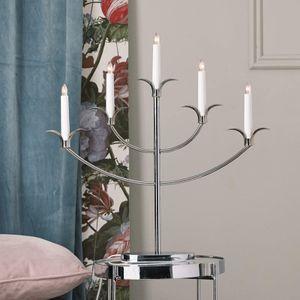 Kerzenleuchter 'Tilpi'- 5flammig - H: 52cm - chrom - warmweiße Glühlampen - inkl. Trafo