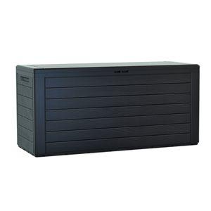 Woodebox Gartenbox Kissenbox Gartentruhe Verschließbar 280 Liter Anthrazit