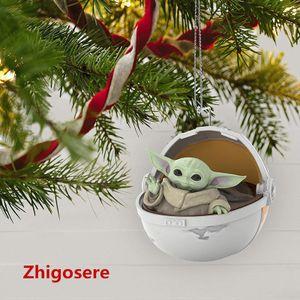 Star Wars Andenken Weihnachtsschmuck Star Wars Yoda Harz Wiege Anhänger Ornament