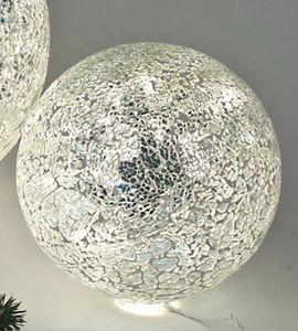 formano Mosaikkugellampe inkl. Lichterkette silber 15cm
