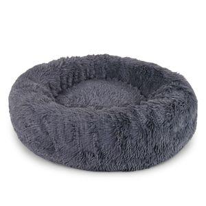 dibea Hundebett rund Hundekissen Hundesofa Katzenbett Donut dunkelgrau 70 cm Ø