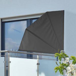 HI Balkonfächer 1,2 ×1,2 m Schwarz Polyester