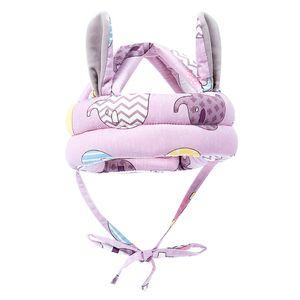 Kid Baby Schutzhut Säugling Kleinkind Sicherheitskopf Helm zum Gehen Krabbeln 40-45cm Lila Baby Kleinkind Schutzhelm