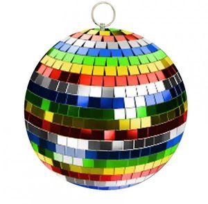 Discokugel 10cm Multicolor / Mirrorball 10cm Multicolor