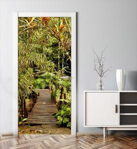MyMAXXI | Tür verschönern mit Türtapete Selbstklebend 90x200 Dschungel | Türfolie Poster Tapete | Selbstklebende Türaufkleber XXL Aufkleber Folie| Türposter Mädchen und Junge