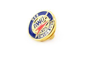 Simson Fan Ansteck-Pin, Emblem für AWO 425 in blau Anstecknadel