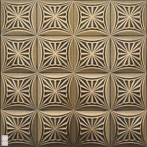 3D Wandpaneele Wandverkleidung Deckenpaneele RETRO DECKE OFFSET-DRUCK Polystyrol XPS(0,25qm)