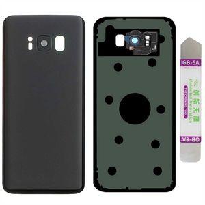 Samsung Galaxy S8 G950F Akkudeckel Back Cover Rückseite Schale Akkufachdeckel inkl.Kamera Linse Black