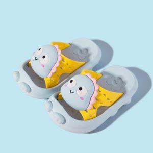 Baby Boys Girls Cartoon Rutschfeste Hausschuhe Duschpantoffel EVA Soft Sole Sandalen Größe:22.5,Farbe:Blau