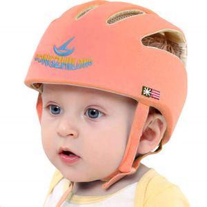 Baby Helm Kleinkind Schutzhut Kopfschutz Baumwolle Hut Verstellbarer Schutzhelm(Orange)
