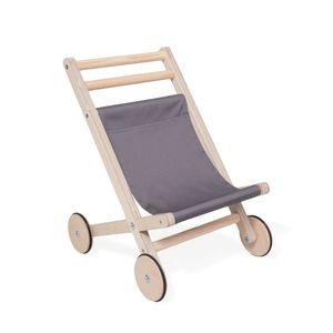 Lauflernwagen für Draußen für Kleinkinder | Puppen Lauflernwagen aus natürlichem Holz