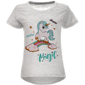 BEZLIT Mädchen T-Shirt mit Print und Glitzer Grau 104