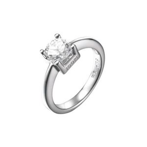 Joop AJ0211 Damen Ring Silber mit Zirkonia weiß Größe 55 (17,5 mm)