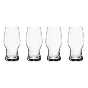 Leonardo Taverna Bierbecher 4er Set Bier Becher Bierglas Craftbier Glas 330 ml