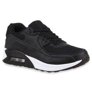 Mytrendshoe Damen Basketballschuhe Sportschuhe Sneakers Low 810623, Farbe: Schwarz, Größe: 36