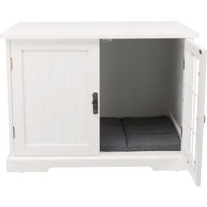 TRIXIE Indoor Nische - Größe M - 73 x 53 x 53 cm - Weiß - Für Hunde und Katzen