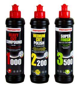 MENZERNA Heavy Cut Compound 1000 & Medium Cut Polish 2200 & Super Finish 3500