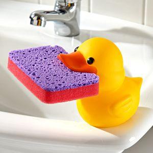GKA Schwammhalter Ente mit Schwamm Küchenschwamm Spüle Küche Bad