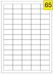 650 Etiketten / 10 Blatt DIN A4 / Größe: 38,1x21,2 / Adressetiketten