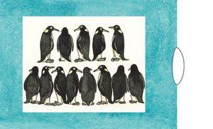 Curiosi Verwandlungskarte lebende Karte Schiebekarte Klappkarte Pinguin