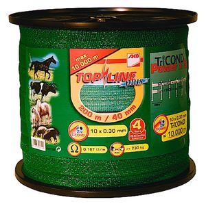 Weidezaunband TopLine Plus TriCOND grün 40 mm, 0,187 Ohm/m, 200 m
