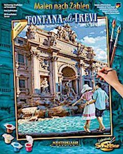 Schipper 609130819 Fontana di Trevi in Rom 40x50cm Malen nach Zahlen