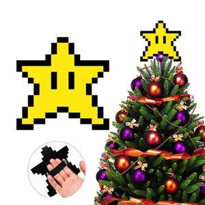 Weihnachten Baum Topper Weihnachten Baum Top Star Weihnachten Geschenk Inspiriert durch Retro Gaming, 15x15cm, geschenk für jede gamer.
