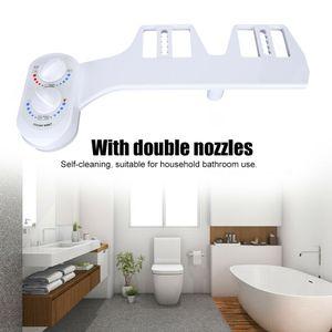 Dusch WC Bidet für Intimpflege Taharet Bad Bidet-Aufsatz Warmwasserbidet Doppeldüsen