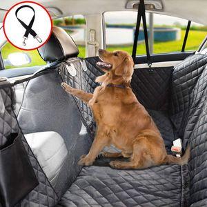 Rutschfeste Hundedecke für Hundesicherheitsgurt, wasserdichter Auto-Rücksitz mit Beobachtungsfenster, Kofferraumschutzgurt für Hundesicherheitsgurt, für SUV