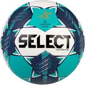 Select Ultimate CL Men Handball Wettspielball Größe 3 weiß-blau-grün